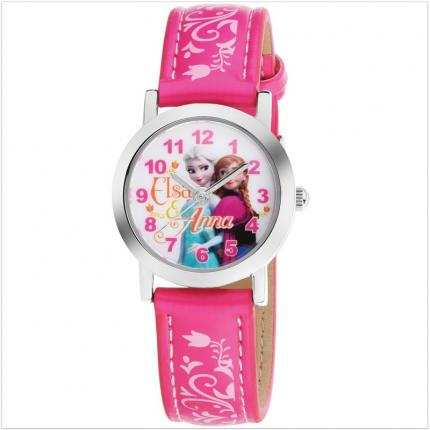 Montre fille rose La Reine des Neiges.