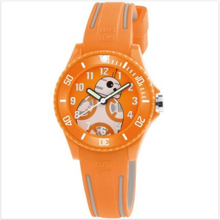 Montre garçon orange Star Wars BB-8.