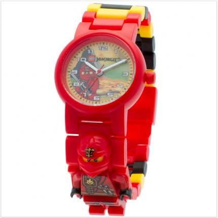 Montre garçon rouge Lego Ninjago Jungle Ninja Kai.