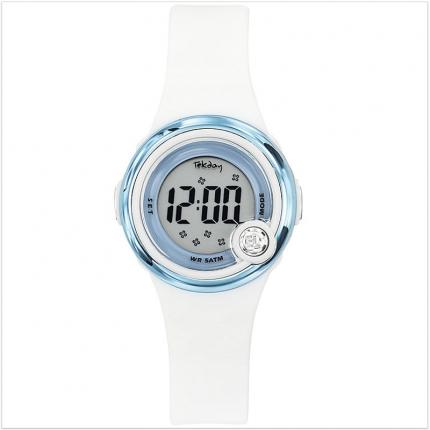 Montre fille digitale blanche en plastique.