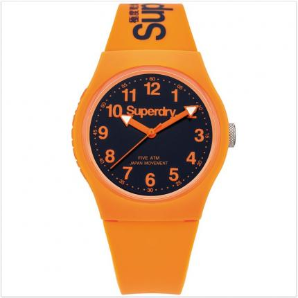 Montre garçon adolescent orange en silicone Superdry Urban