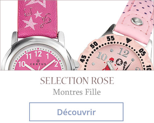 Montre fille rose