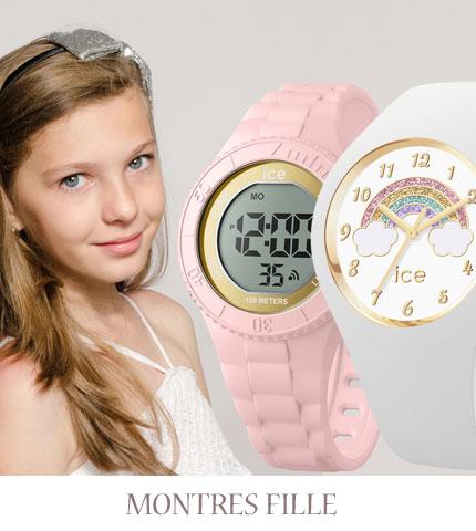 montres enfants filles bracelet cuir